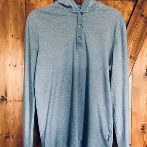 Michael Kors-Stripped Hooded Long Sleeve (Small)